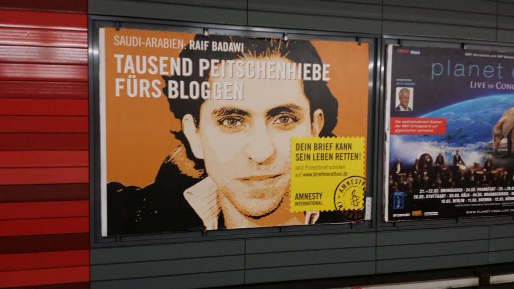 Plakataktion in Hamburg, Dezember 2014
